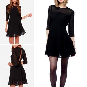 BB Dakota Shaelei Black 3/4 Sleeve Dress